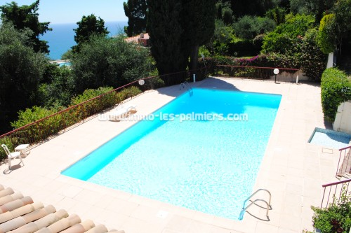 Image 4 : Villa apartment in private domain with swimming pool located in Menton